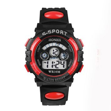 1 pc Waterproof Digital Sports LED Quartz Wristwatches