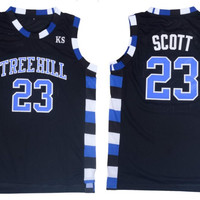 Nathan Scott 23 One Tree Hill Ravens Basketball Jersey Black