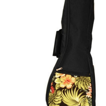 Ukulele Soft Bag with Hawaiian Floral Design
