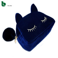 Cat Necessaire Trip Beautician Women Neceser Travel Make Up Makeup Storage Vanity Case Pouch Cosmetic Bag Toiletries Organizer