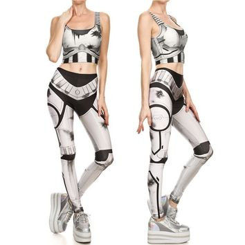 Star Wars Force Episode 1 2 3 4 5 2017 New Fashion  Imperial Stormtroope Crop Tops and Leggings Sets Sexy Women Cosplay Costumes Summer Tight Bodysuit AT_72_6
