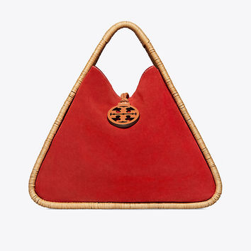 Tory Burch Triangle Basket Tote