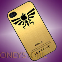 Gold Zelda Logo - Photo Print for iPhone 4/4s, iPhone 5/5C, Samsung S3 i9300, Samsung S4 i9500 Hard Case