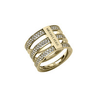 Triple-Stack Pave Ring, Golden - Michael Kors