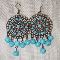 Rebirth Turquoise Dream Catcher Earrings