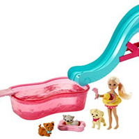 Barbie Flippin' Pup Pool and Chelsea Doll Playset