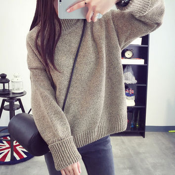 Bottoming Shirt Sweater Knit Tops Jacket [9052551748]