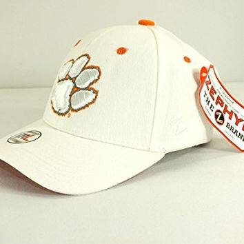 Clemson Tigers Ncaa Flex/fitted CAP M/l Size HAT NEW By Zephyr C 12