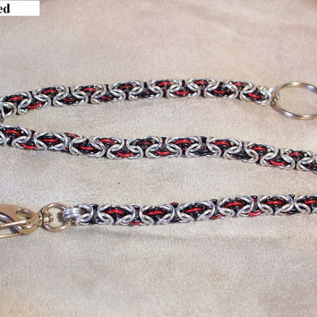 Aluminum Triple Byzantine Chainmaille Wallet Chain