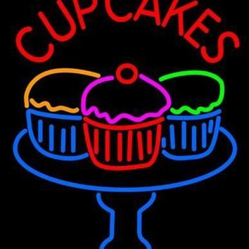 Cup Cakes Neon Sign Real Neon Light