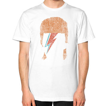 David Bowie Vintage Tees Unisex T-Shirt (on man)