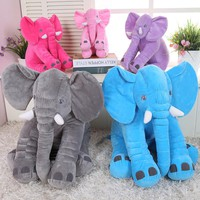 Appease Baby 33cm Elephant Baby Kids Long Nose Elephant Doll Soft Plush Stuff Toy Lumbar Cushion Pillow For Baby Kids Girls Gift