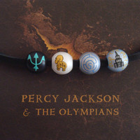 percy jackson necklace, camp half blood, lightning theif, beaded necklace