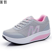 New 2016 Height Increasing Women Casual Shoes Sport Fashion Shoes For Women Platform Swing Wedges Shoes Shoes For Female
