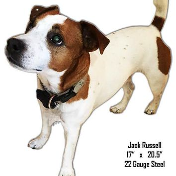 Jack Russell Laser Cut Out Wall Art Metal  Sign 17″x20.5″
