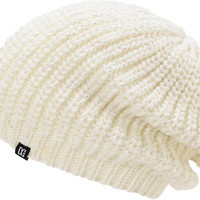 DC Girls Georgia White Lurex Slouch Beanie at Zumiez : PDP
