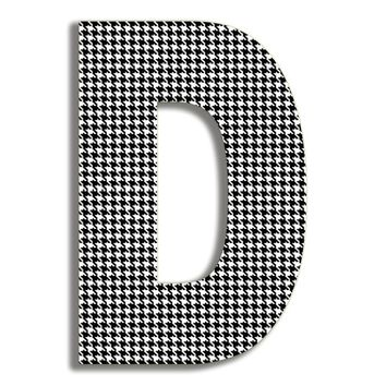 Tyrik Houndstooth Letter Hanging Initial