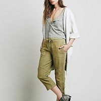 Free People Womens Structured Hi-tech Cropped Pants