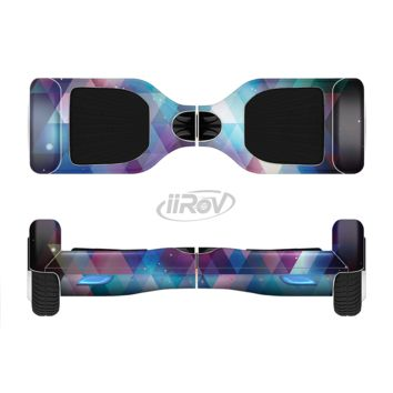 The Vector Triangle Pink and Blue Galaxy Full Body Skin Set for the Smart Drifting SuperCharged Transportation iiRov