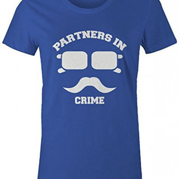 Shirts By Sarah Women's Best Friend T-Shirts Partners In Crime Hipster Mustache