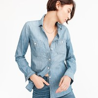 Women's Selvedge Chambray Shirt - Women's Shirts | J.Crew