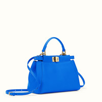 FENDI | MINI PEEKABOO handbag in cornflower blue nappa