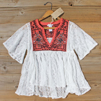 Rosewater Top in Rust