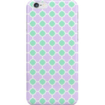 Mint Green and Purple Quatrefoil Pattern by TigerLynx