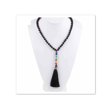 Chakra Stone Lava Rock Necklack for Essential Oil Diffuser Beads