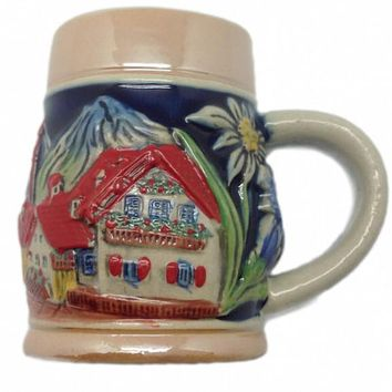 Ceramic Beer Stein Fridge Magnet German Edelweiss