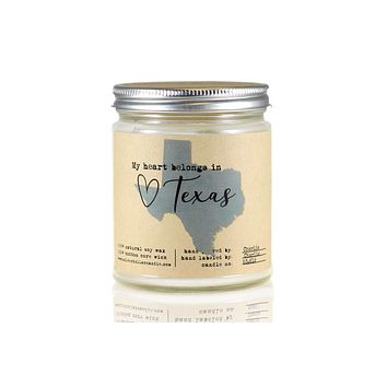 Texas State Candle - 8oz Soy Candle