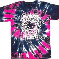 Spitfire Tripper II Tee Large tie Dye Blue/Pink/Black With White