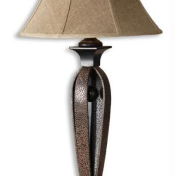 Table Lamp - Rust Brown Wash