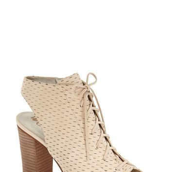 Sam Edelman 'Ennette' Perforated Lace Up Bootie (Women) | Nordstrom