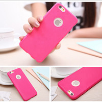 Rose Ultra Thin Soft Silicone Rubber Grid Phone Back Cover Case For iPhone 5 5S SE 6 6S 6 Plus 6S Plus