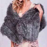 Fur Shrug Coat