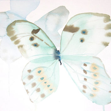 Butterflies - 9x12 Original Watercolor Painting - nature art