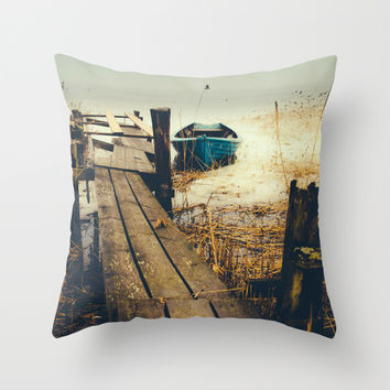 Crooked fisherman Throw Pillow by HappyMelvin