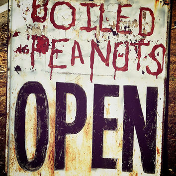 Vintage Kitchen Wall Decor Boiled Peanuts Open by BrandonAddisArt