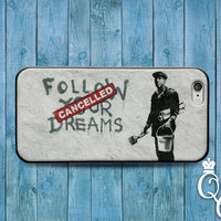 iPhone 4 4s 5 5s 5c 6 6s plus + iPod Touch 4th 5th 6th Gen Custom Cool Phone Cover Follow Your Dreams Cancelled Funny Case Paint Art Parody