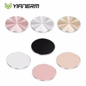 Yianerm 2 Pieces Pack 32*32mm Metal Plate Magnetic Car Phone Holder Accessories Iron Sheet Specially Used For Magnet Phone Stand