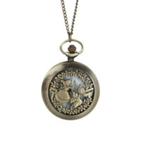 Disney Alice In Wonderland Pocket Watch Necklace