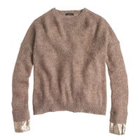 J.Crew Womens Sequin-Cuff Sweater