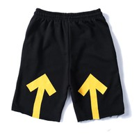 Trendsetter Off White Women Men Casual Sport Shorts