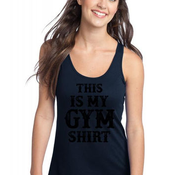 this is my gym shirt Racerback Tank