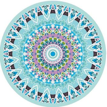 PEAPGC3 Classic Summer Beach Throw Towel Indian Mandala Round Elephant Tapestry Wall Hanging Yoga Mat Decorative Round Beach Cover-Ups