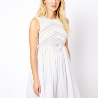Warehouse White Shoulder Detail Dress - White