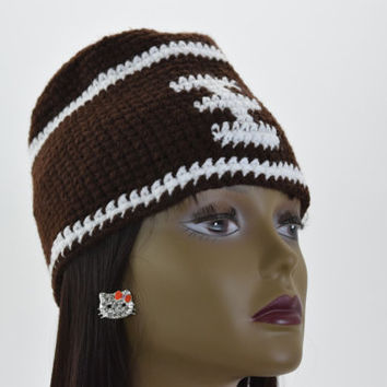 Football Beanie, Crochet football hat