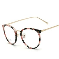 MINCL/Women Eyeglasses Fashion Myopia Optical Computer Glasses Frame Brand Design Plain Eye glasses oculos  LXL
