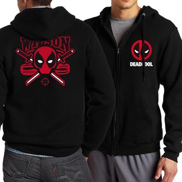 Deadpool Dead pool Taco /The Flash STAR S.T.A.R. Labs/Batman/The Punisher Men Hoodies 2017 Spring Autumn Men Zipper Tracksuit Fashion Sweatshirt AT_70_6